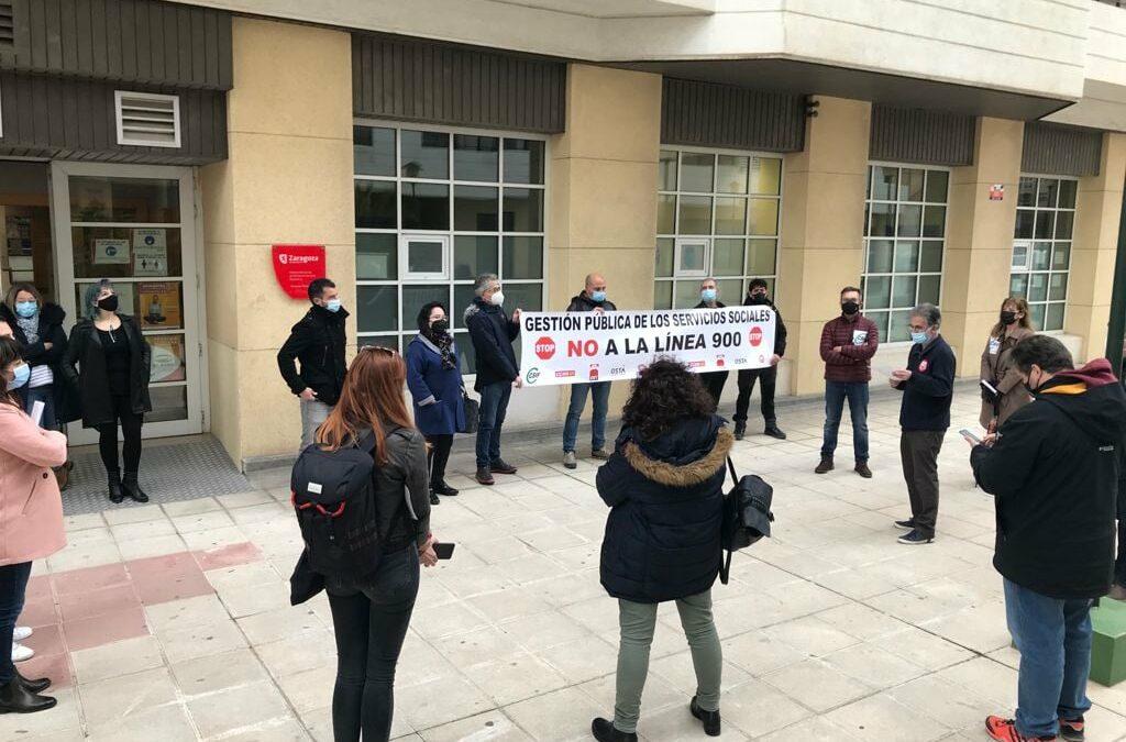 Denunciamos la falta de personal y la privatización de  servicios en el Ayto. de Zaragoza