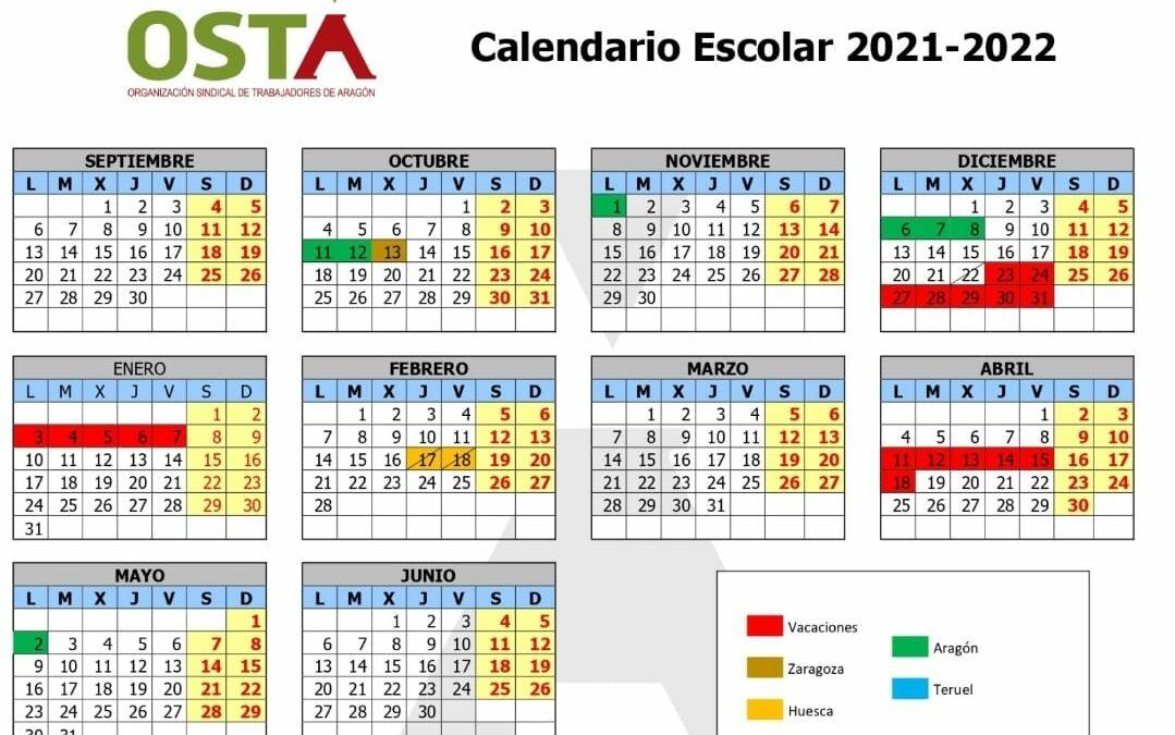 Publicado el calendario escolar 2021-2022